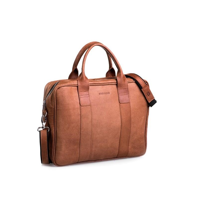 d65bc82a1d2af7 LHPL1 Skórzana listonoszka NOTEBOOK LESACK™ torba na ramię, notebook.  Rozmiar 15