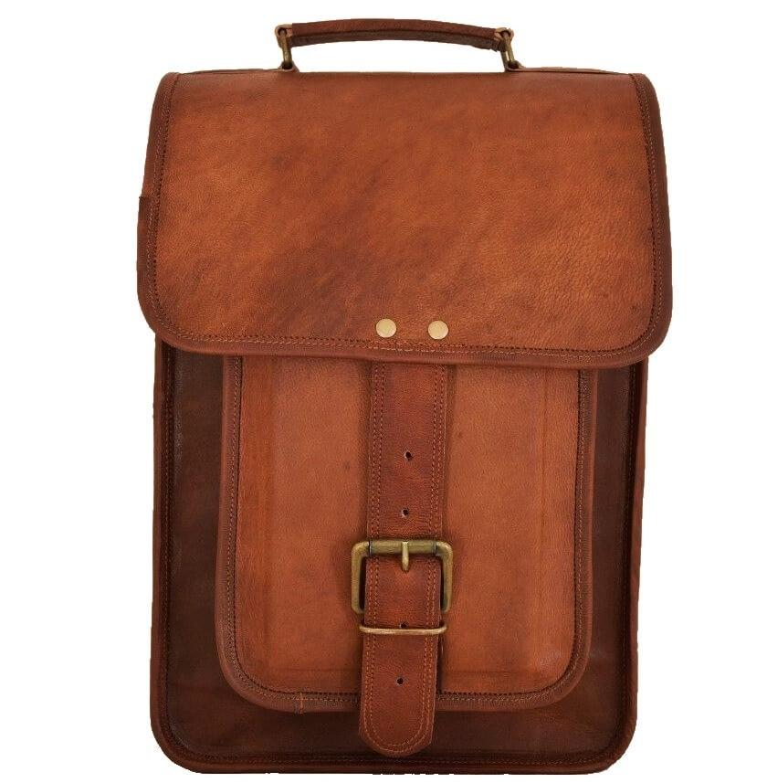 "LH36. Skórzana listonoszka aktowka GORDON LESACK™ torba na ramię męska. Rozmiar 13"""
