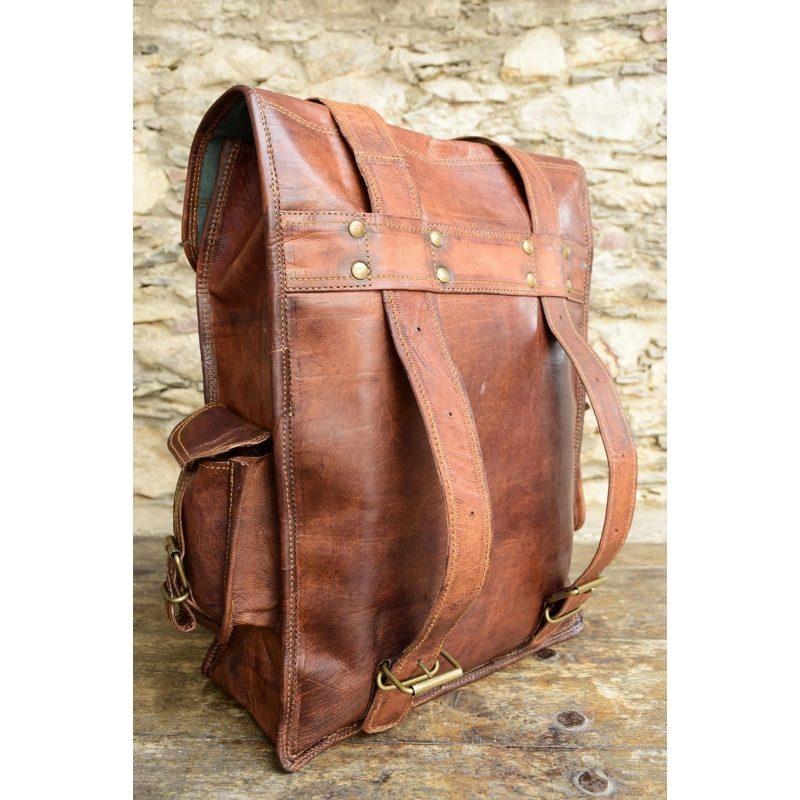 521550bd8cf54 ☆ PLH02 Skórzany plecak męski - damski z grubej skóry naturalnej ...
