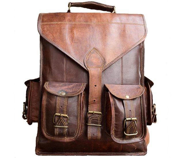 """PLH02. Skórzany plecak VINTAGE YORK™ Rozmiar 10,5"""""""