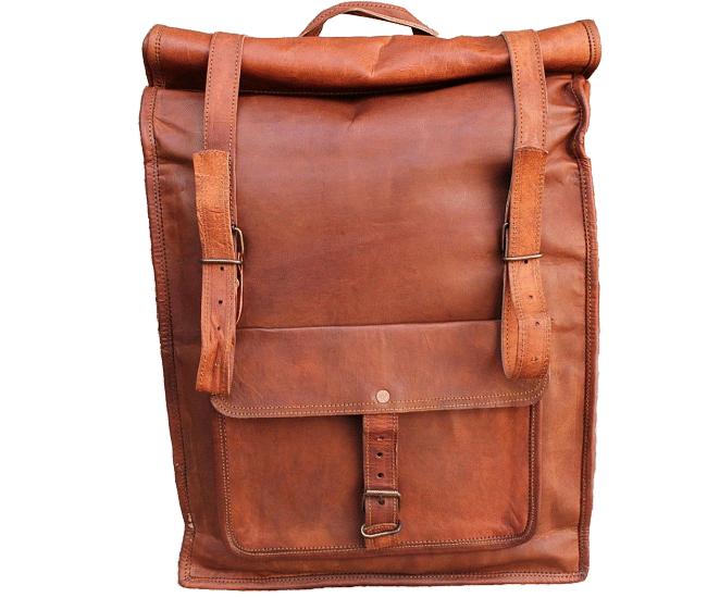 """PLH4. Skórzany plecak VINTAGE PAX2 ™ Rozmiar 13,5"""""""