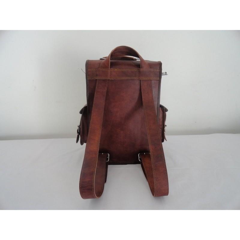 a398d8bb21c69 ☆ PLH04 Skórzany plecak męski - damski gruba skóra naturalna vintage.