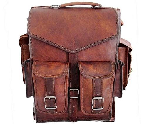 7df4151c7d191 ☆ PLH04 Skórzany plecak męski - damski gruba skóra naturalna vintage.