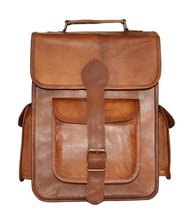 """PLH06. Skórzany plecak VINTAGE BROS™ Rozmiar 11"""""""