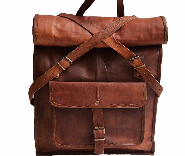 """PLH5. Skórzany plecak VINTAGE PAX2 ™ Rozmiar 14"""""""