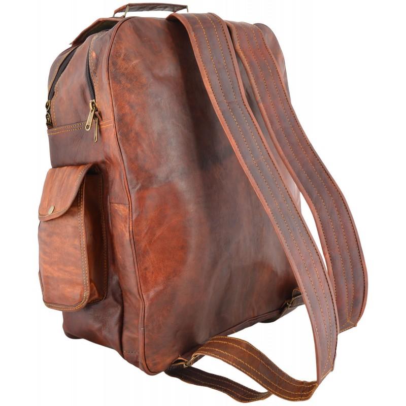 15b0d7c636701 ☆ PLH6 Skórzany plecak męski   damski z grubej skóry w stylu vintage.