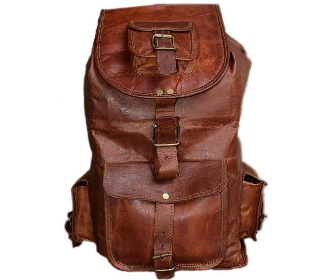 """PLH7. Skórzany plecak VINTAGE SILO™ Rozmiar 16"""""""