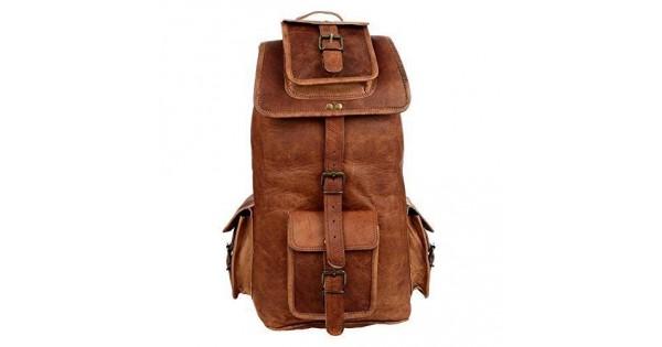 7b47705c3e95c ☆ PLH7A Skórzany plecak męski   damski z grubej skóry w stylu vintage.