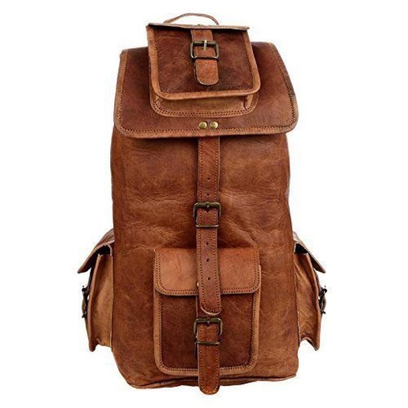 2518f703847c3 ☆ PLH7A Skórzany plecak męski / damski z grubej skóry w stylu vintage.