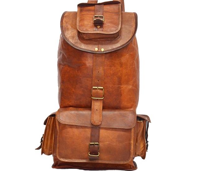 """PLH93A. Skórzany plecak VINTAGE SHERPA™ Rozmiar 18"""""""