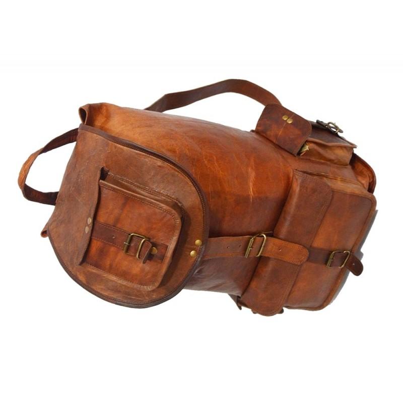 80e18dfd8af42 ☆ PLH93 Skórzany plecak męski   damski z grubej skóry w stylu vintage.