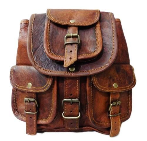 """PLH94. Skórzany plecak VINTAGE MINOR™ Rozmiar 8"""""""