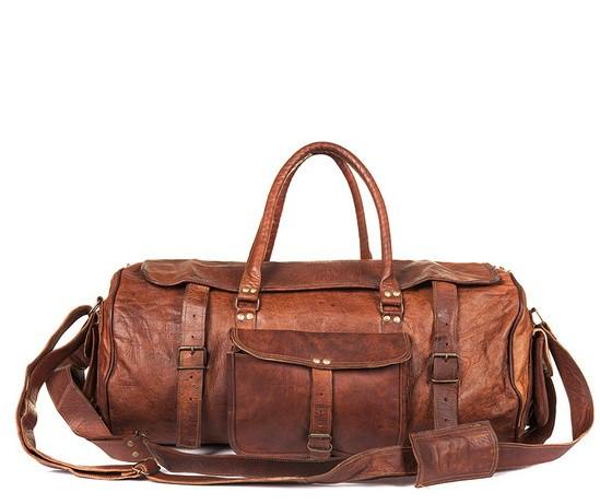 """(24h) PH1. Skórzana torba podróżna plecak """"VINTAGE TRAVELER MAX™  Rozmiar 24"""" (dostawa w 24h)"""