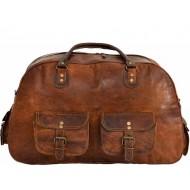 """PH994 ARCH VINTAGE™ Skórzana torba podróżna na ramię. Rozmiar 16"""""""