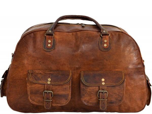 """PH994 ARCH VINTAGE™ Skórzana torba podróżna na ramię. Rozmiar 17"""""""