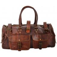 "(uszkodzona) PH2. Skórzana torba podróżna VINTAGE JAIPUR™  Rozmiary 20"""