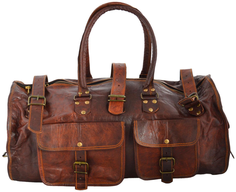 """(24) PH2. Skórzana torba podróżna VINTAGE JAIPUR™  Rozmiary 22"""""""