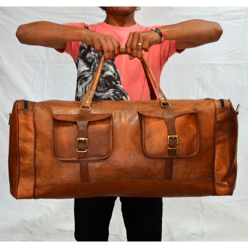 f43c5d7563d04 Skórzana torba podróżna męska na ramię VINTAGE JAIPUR MAX™ Rozmiar  28