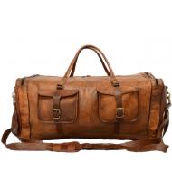 """PH4. Skórzana torba podróżna męska na ramię """"VINTAGE JAIPUR MAX™  Rozmiar: 28"""" - 30"""""""