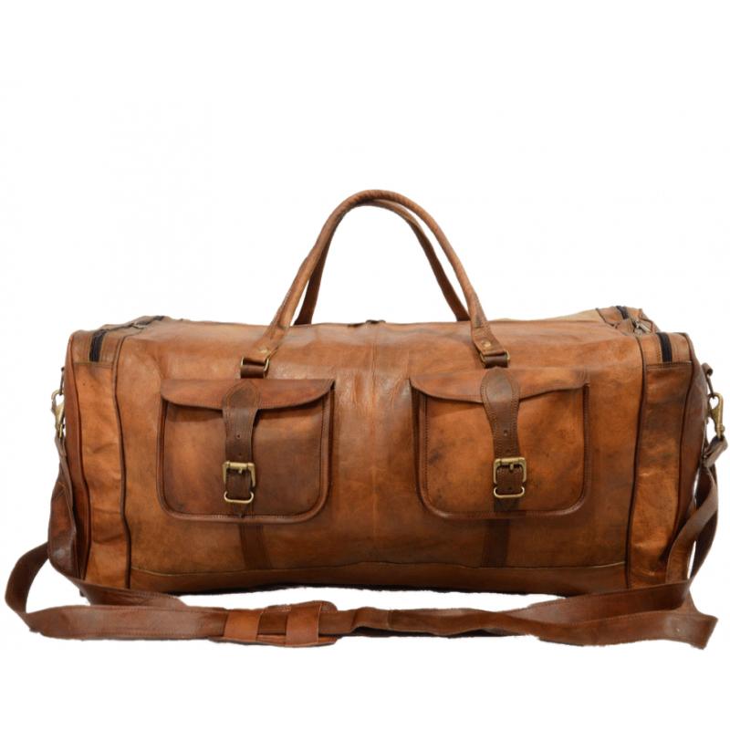 b7ebe9581e312 Skórzana torba podróżna męska na ramię VINTAGE JAIPUR MAX™ Rozmiar  28