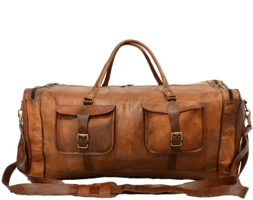 """PH4. Skórzana torba podróżna męska na ramię VINTAGE JAIPUR MAX™  Rozmiar: 28"""" - 30"""""""