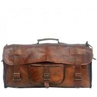 """PH5. Skórzana torba podróżna na ramię męska """"VINTAGE UDAIPUR™  Rozmiary 20"""" - 28"""""""