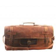 """PH5. Skórzana torba podróżna na ramię męska """"VINTAGE UDAIPUR™  Rozmiar 28"""""""
