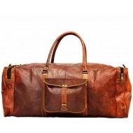 """PH6A. Skórzana torba podróżna na ramię męska """"VINTAGE ADVENTURE MAX™  Rozmiar 24"""""""