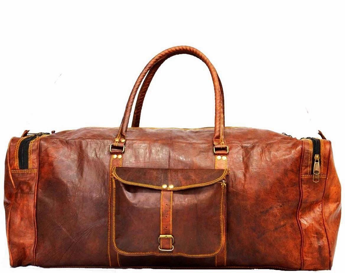 """PH6. Skórzana torba podróżna na ramię męska """"VINTAGE ADVENTURE MAX™  Rozmiary 20"""" - 28"""""""