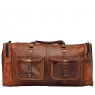 """PH7. Duża skórzana torba podróżna na ramię męska """"VINTAGE DOUBLE ALHAMIR™  Rozmiar 24"""" - 28"""""""