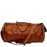 """(USZKODZONA) PH70.  Skórzana cylindryczna torba podróżna na ramię """"VINTAGE ADVENTURE II™  Rozmiar 24"""""""