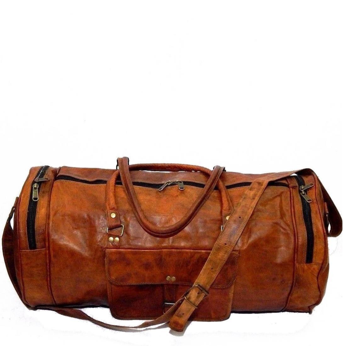 "PH70a.  Skórzana cylindryczna torba podróżna na ramię ""VINTAGE ADVENTURE II™  Rozmiar 24"""