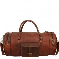 """PH70 Skórzana cylindryczna torba podróżna na ramię """"VINTAGE ADVENTURE II™  Rozmiar 24"""""""