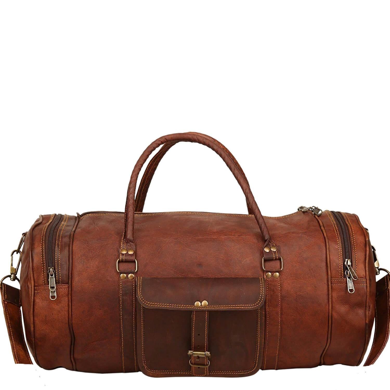"""PH70.  Skórzana cylindryczna torba podróżna na ramię """"VINTAGE ADVENTURE II™  Rozmiar 24"""" - 30"""""""