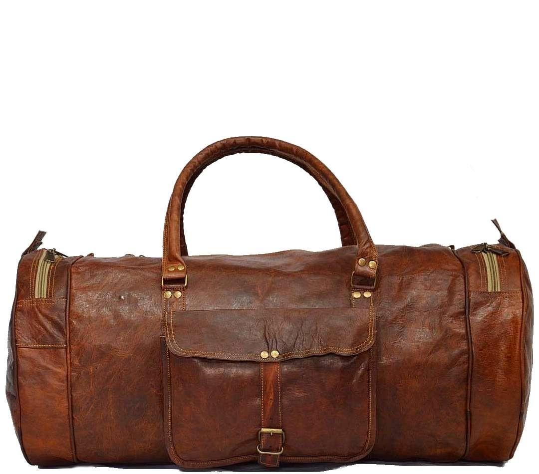 """PH71.  Skórzana cylindryczna torba podróżna na ramię """"VINTAGE ADVENTURE III™  Rozmiar 20"""" - 24"""""""