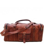 """PH73. Skórzana torba podróżna na ramię VINTAGE SAHIB™ Rozmiar 20""""-30"""""""