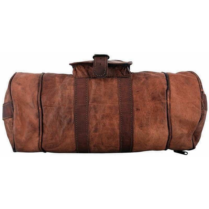 ffb82c6ac6120 Skórzana cylindryczna torba podróżna na ramię