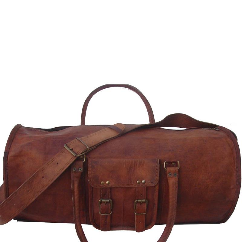 ebd3bc84a0cbd Skórzana cylindryczna torba podróżna na ramię