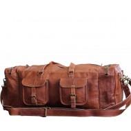 """PH77. Skórzana torba podróżna na ramię męska """"VINTAGE DOUBLE JONES™  Rozmiar 30"""""""