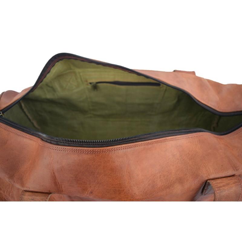 0047168733bfb PH75 SAFARI™ Skórzana średnia torba podróżna na ramię owalna. Męska   damska.  Rozmiar