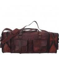 """PH76. VINTAGE HASSAB™  Skórzana torba podróżna na ramię Rozmiar 30"""""""