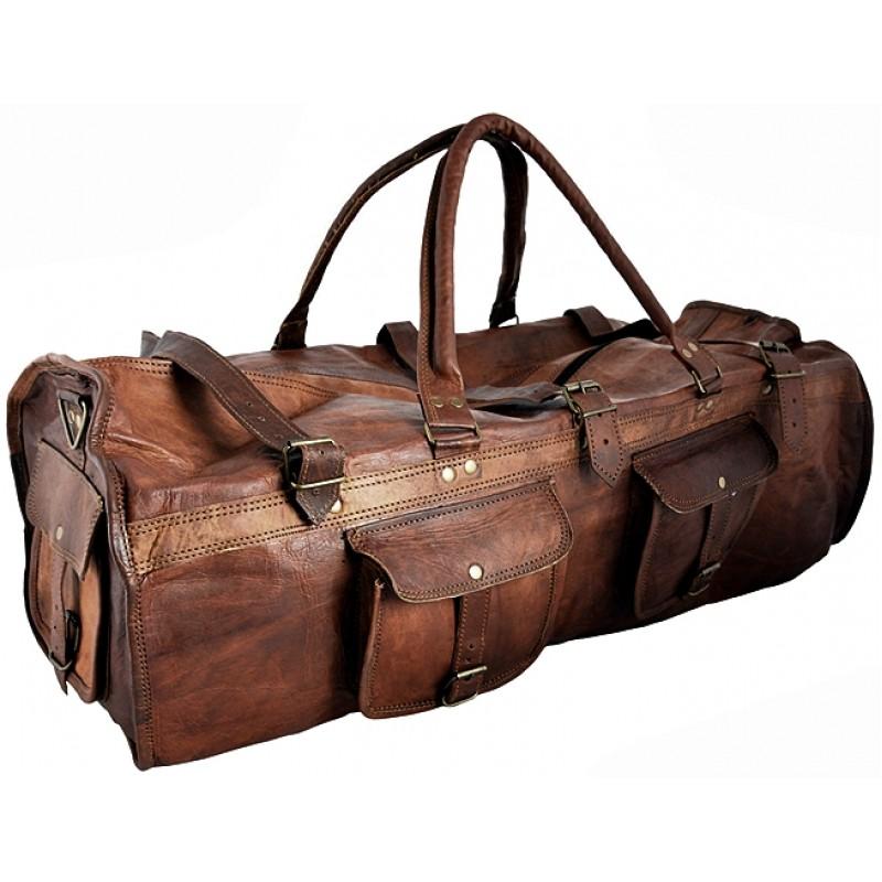 f94a504426546 Skórzana torba podróżna na ramię