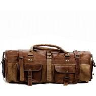 """PH78. Skórzana torba podróżna na ramię  """"VINTAGE DOUBLE STORN™  Rozmiar 28"""""""