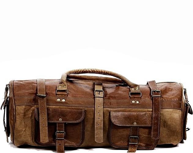 """PH78. Skórzana torba podróżna na ramię  """"VINTAGE DOUBLE STORN™  Rozmiar 26"""""""