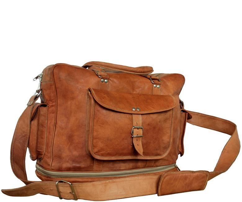 """PH81 """"VINTAGE KAZAAR™ Skórzana torba podróżna na ramię  Rozmiar  17"""""""