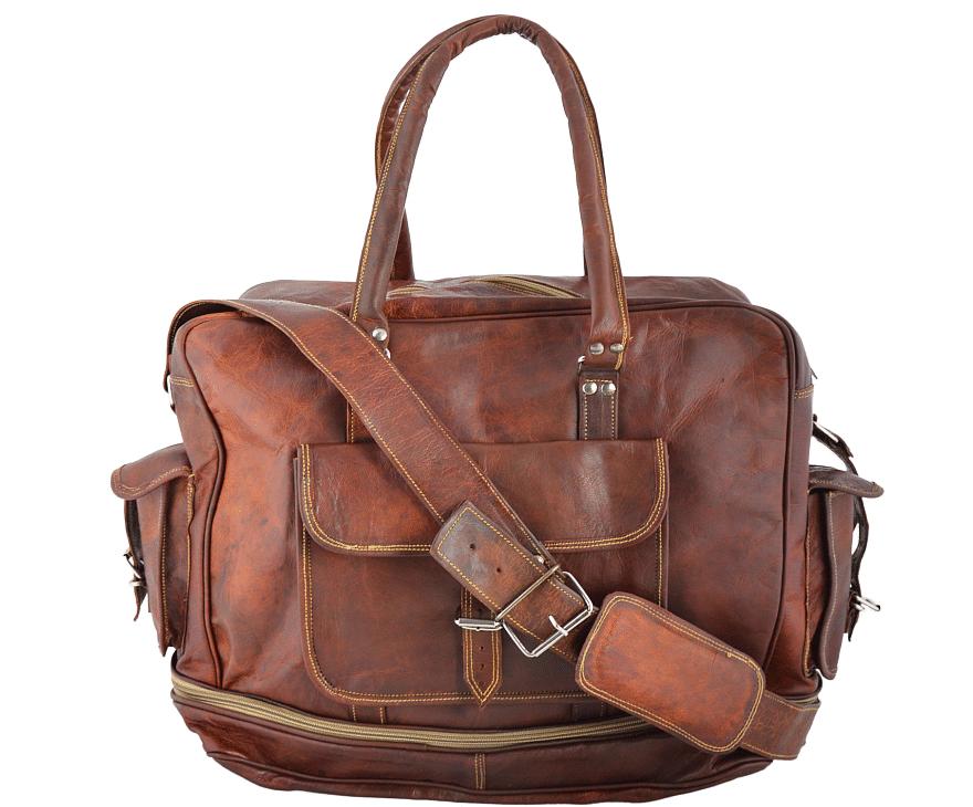"""PH8 """"VINTAGE RADHAM™ Skórzana torba podróżna na ramię  Rozmiar  17"""""""