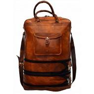 """PH92a. TRAVELER DUO™ Skórzana torba podróżna na ramię / plecak. Rozmiar 14"""""""