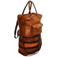 """PH93. TRAVELER TRIO™ Skórzana torba podróżna na ramię / plecak Rozmiar 18""""-26"""""""