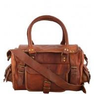 """PH95. RAHJA TRAVELER ™ Skórzana torba podróżna na ramię. Rozmiar 12"""""""