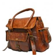 "(24) PH96. RAHJA TRAVELER II™ Skórzana torba na ramię 12"""